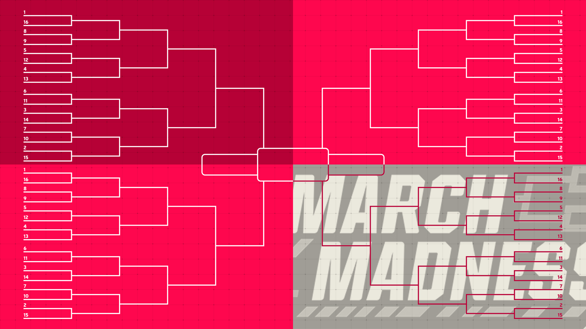 photograph relating to Printable Tournament Bracket named March Insanity 2019 bracket: Printable NCAA Match