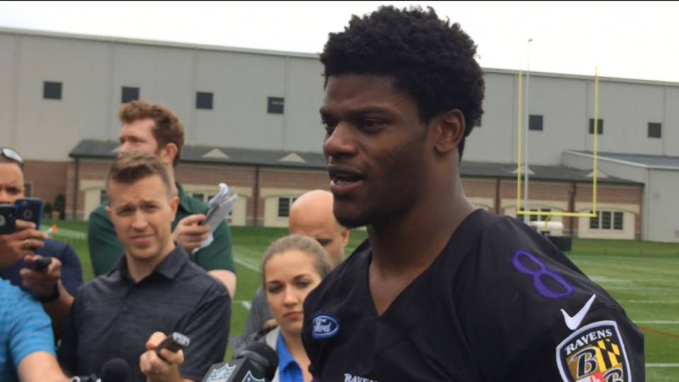 After first rookie camp, Ravens like Lamar Jackson a lot: 'He's a naturally talented thrower'