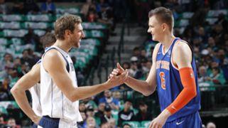 Knicks Mavericks Kristaps Porzingis Dirk Nowitzki