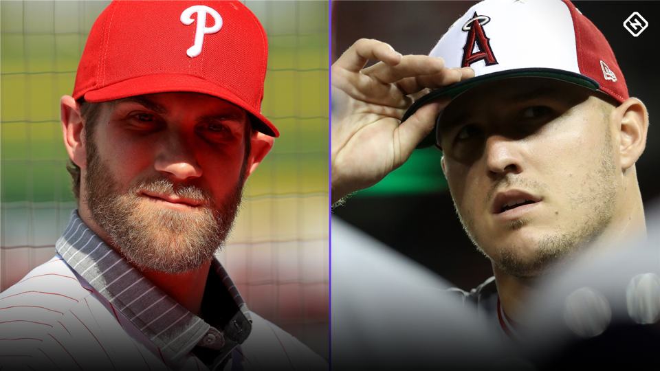 Angels contact MLB about Bryce Harper's talk of bringing Mike Trout to Phillies