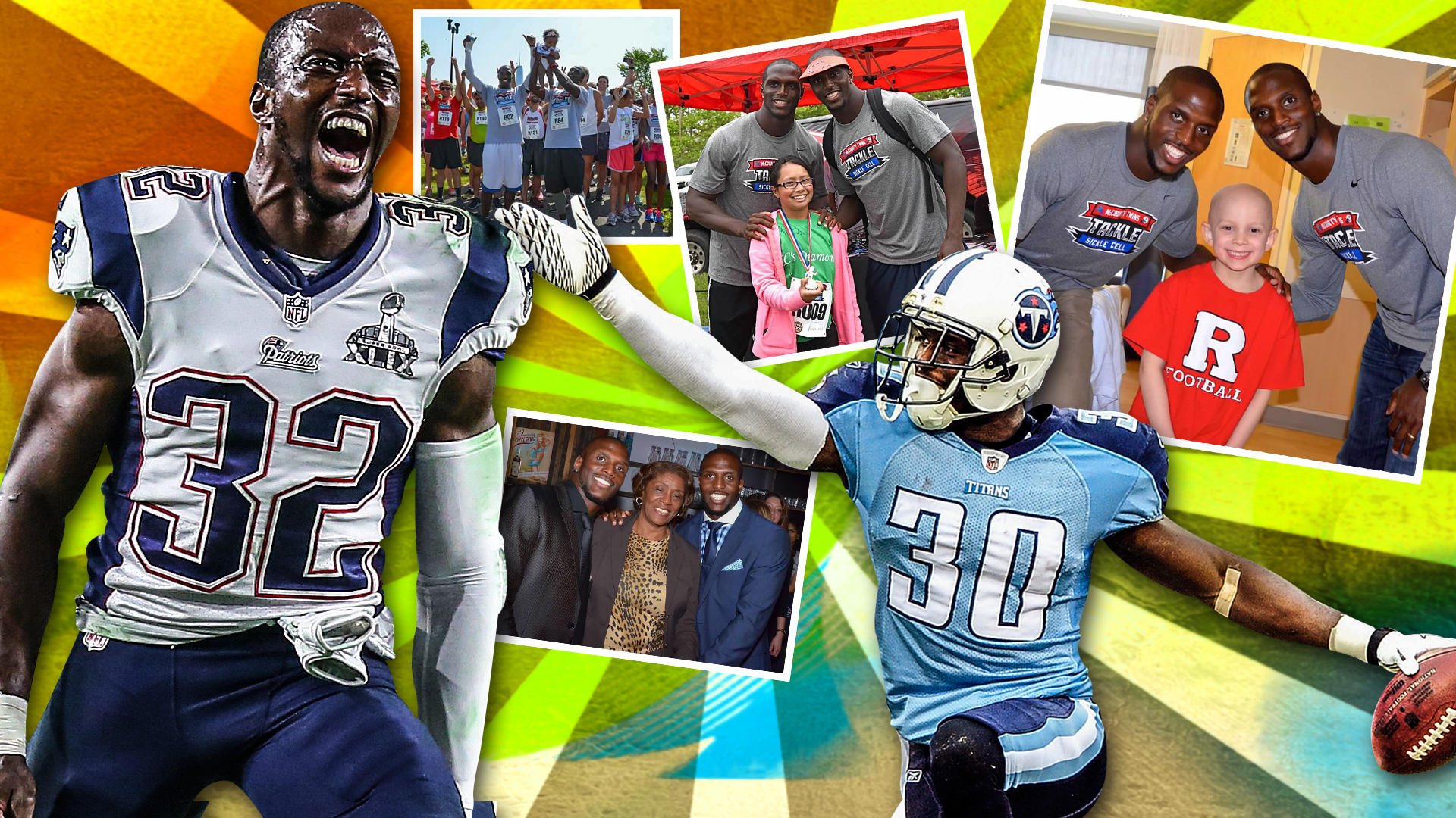 big sale a300f 4780a McCourty twins are giving back by making sickle cell their ...