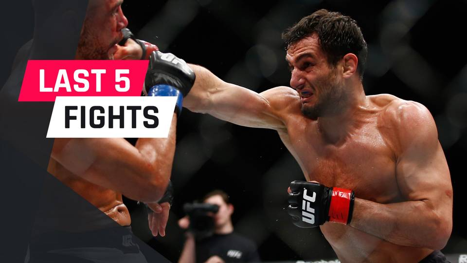 Gegard Mousasi's last five fights