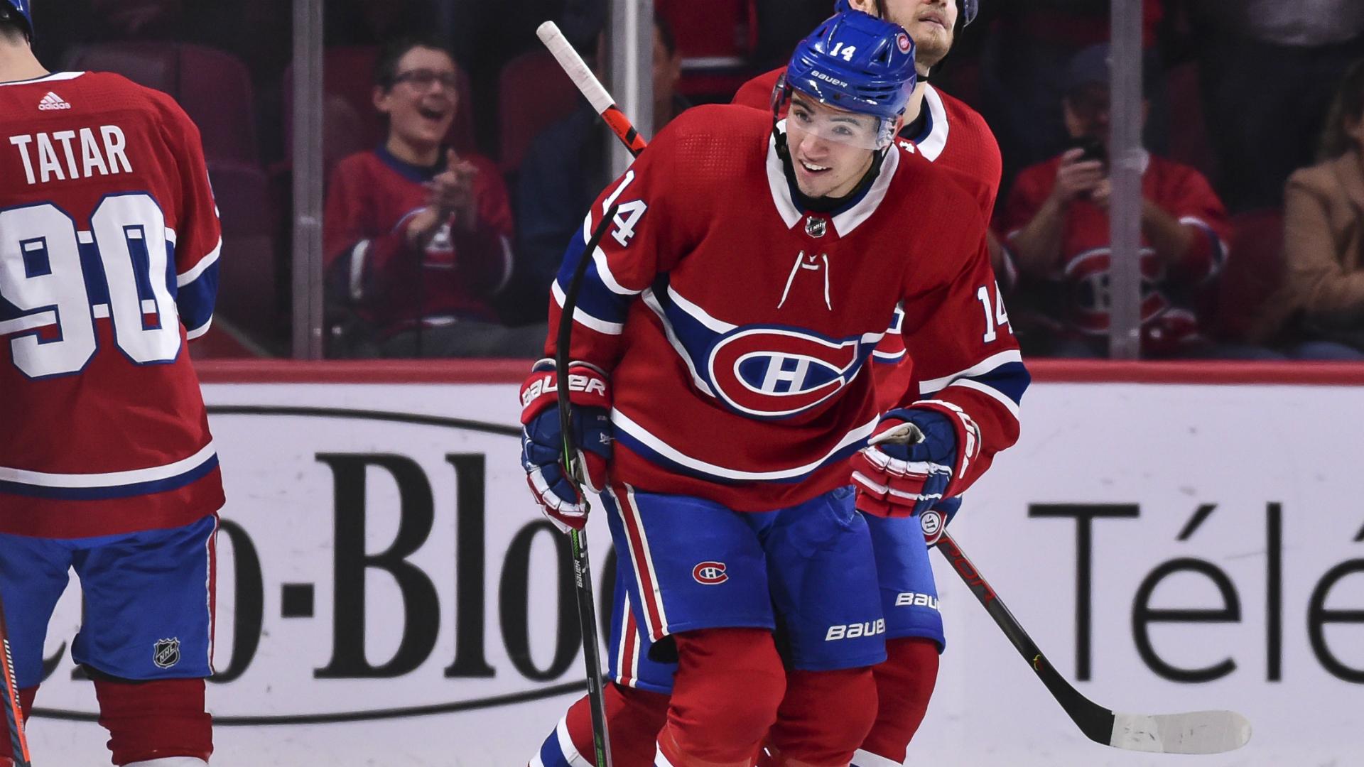 Montreal Canadiens rookie Nick Suzuki scores first career goal