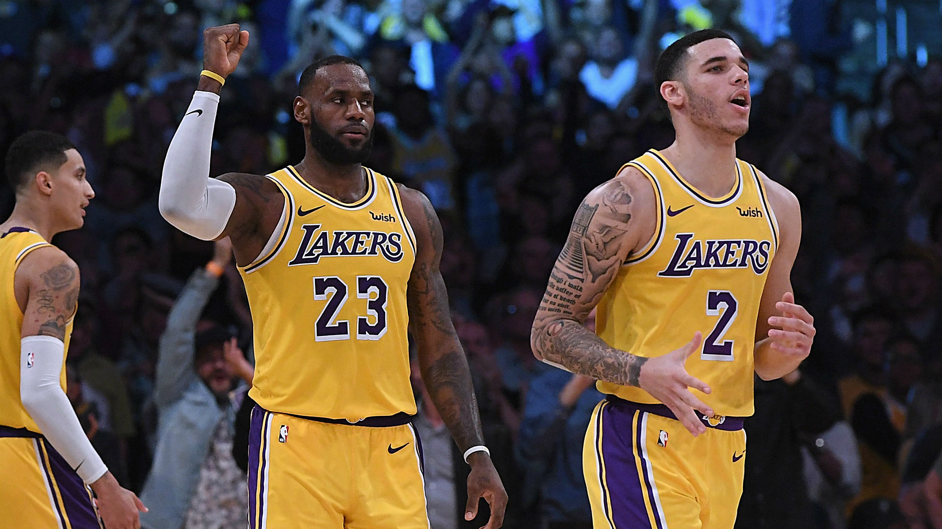 Image result for lebron james lonzo ball
