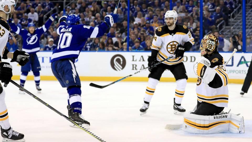 NHL playoffs 2018: J.T. Miller scores Game 5 winner, Lightning eliminate Bruins
