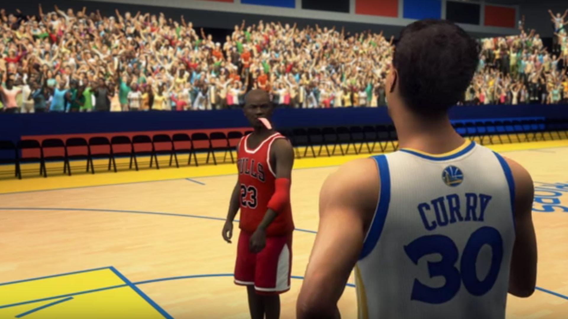 on sale f60f2 a2f04 Watch Stephen Curry's Warriors break Michael Jordan's Bulls ...
