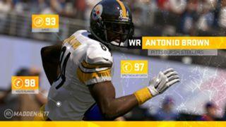 Madden NFL 17 Antonio Brown ratings