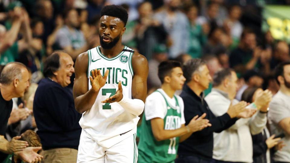 Jaylen Brown takes next step in rapid evolution with spectacular Game 1 showing