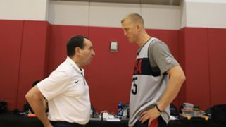 Mason Plumlee Mike Krzyzewski USA Basketball Men's National Team