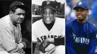 Babe Ruth, Willie Mays, Ken Griffey Jr.