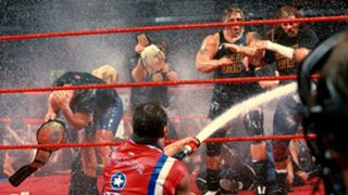 34. Kurt Angle douses The Alliance with milk  (Aug. 20, 2001)