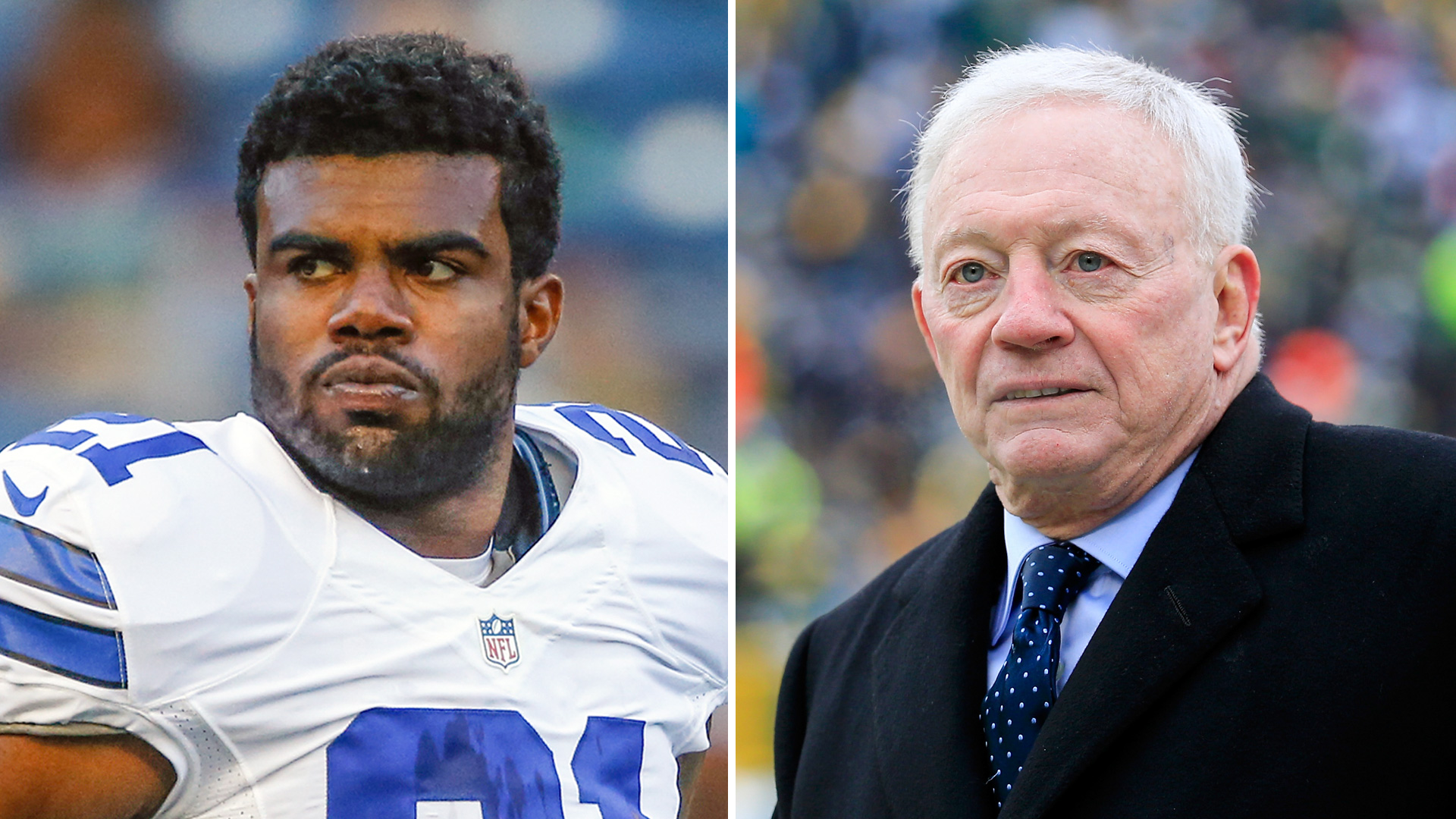 Image result for images of jerry jones and ezekiel elliott