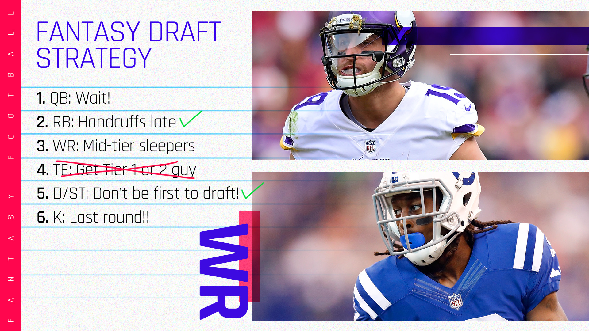 2018 Fantasy Football Rankings Tiers Draft Strategy Wide Receiver