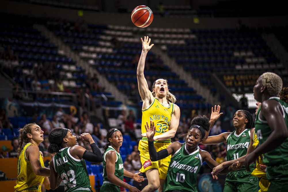 Sami Whitcomb Australia FIBA