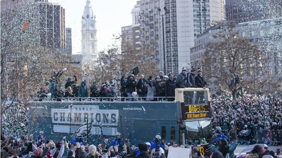Scenes from the Eagles' Super Bowl parade in Philadelphia ...