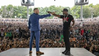 Conor McGregor, Floyd Mayweather square off in Toronto