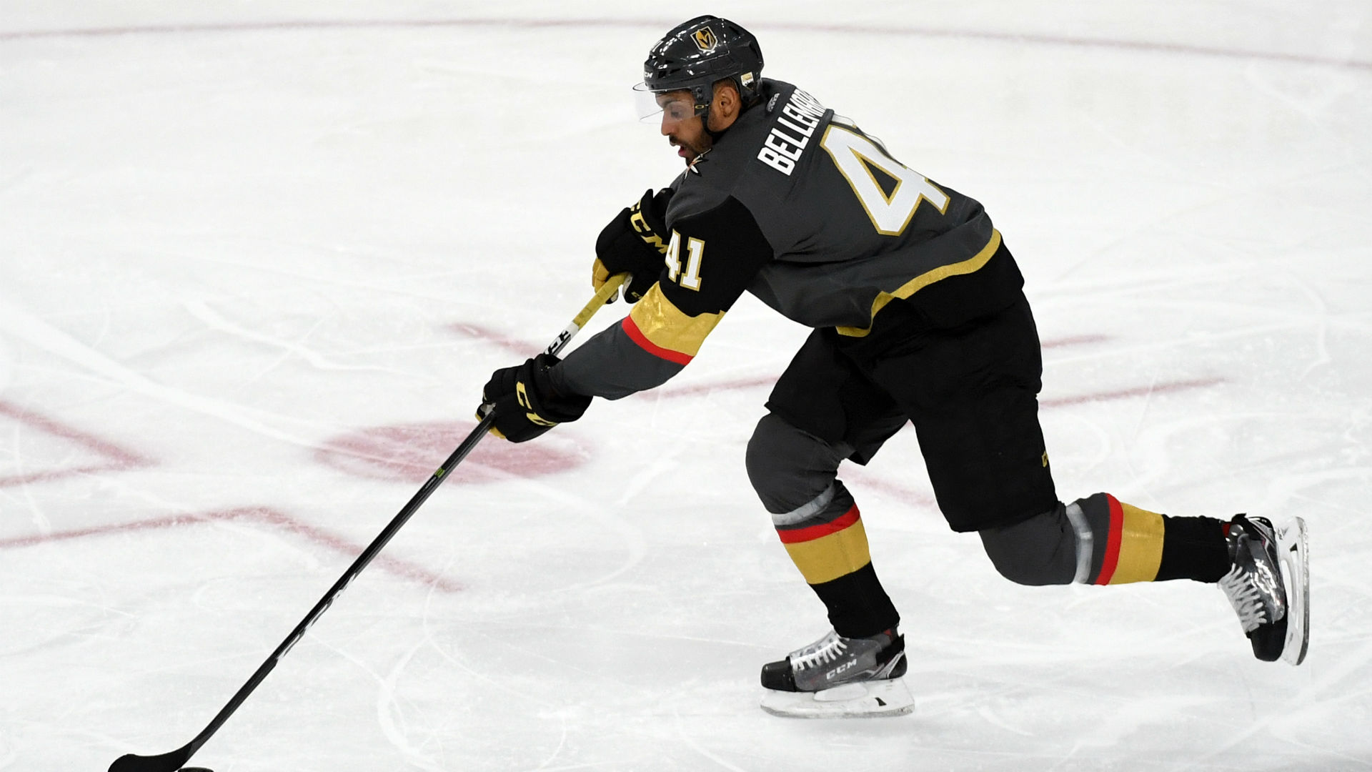 Golden Knights' Bellemare goes between-the-legs in goal against Canadiens