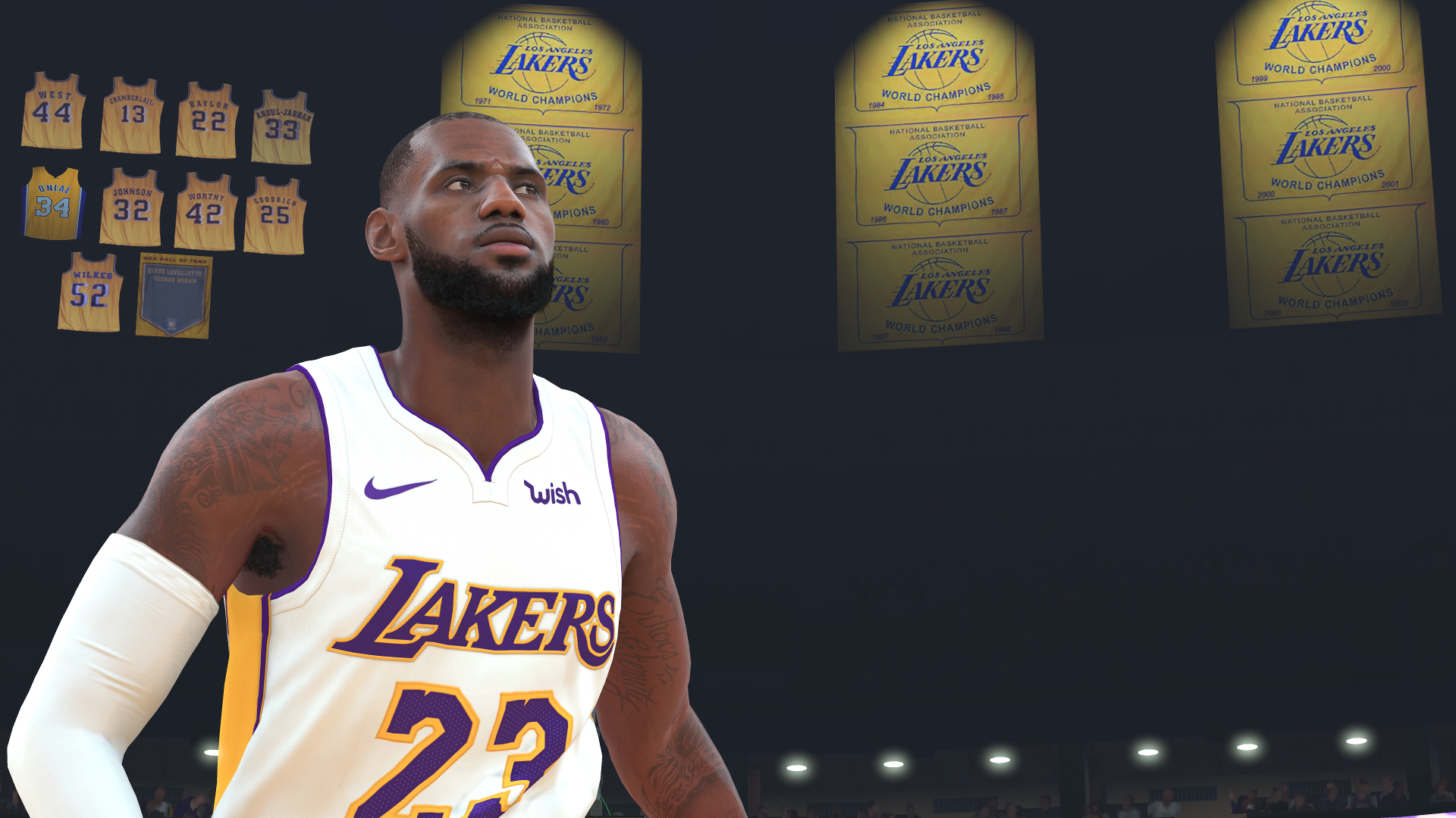 f771cc3ee0c LeBron James reacts to  NBA 2K19  rating  Not bad  for such an old head