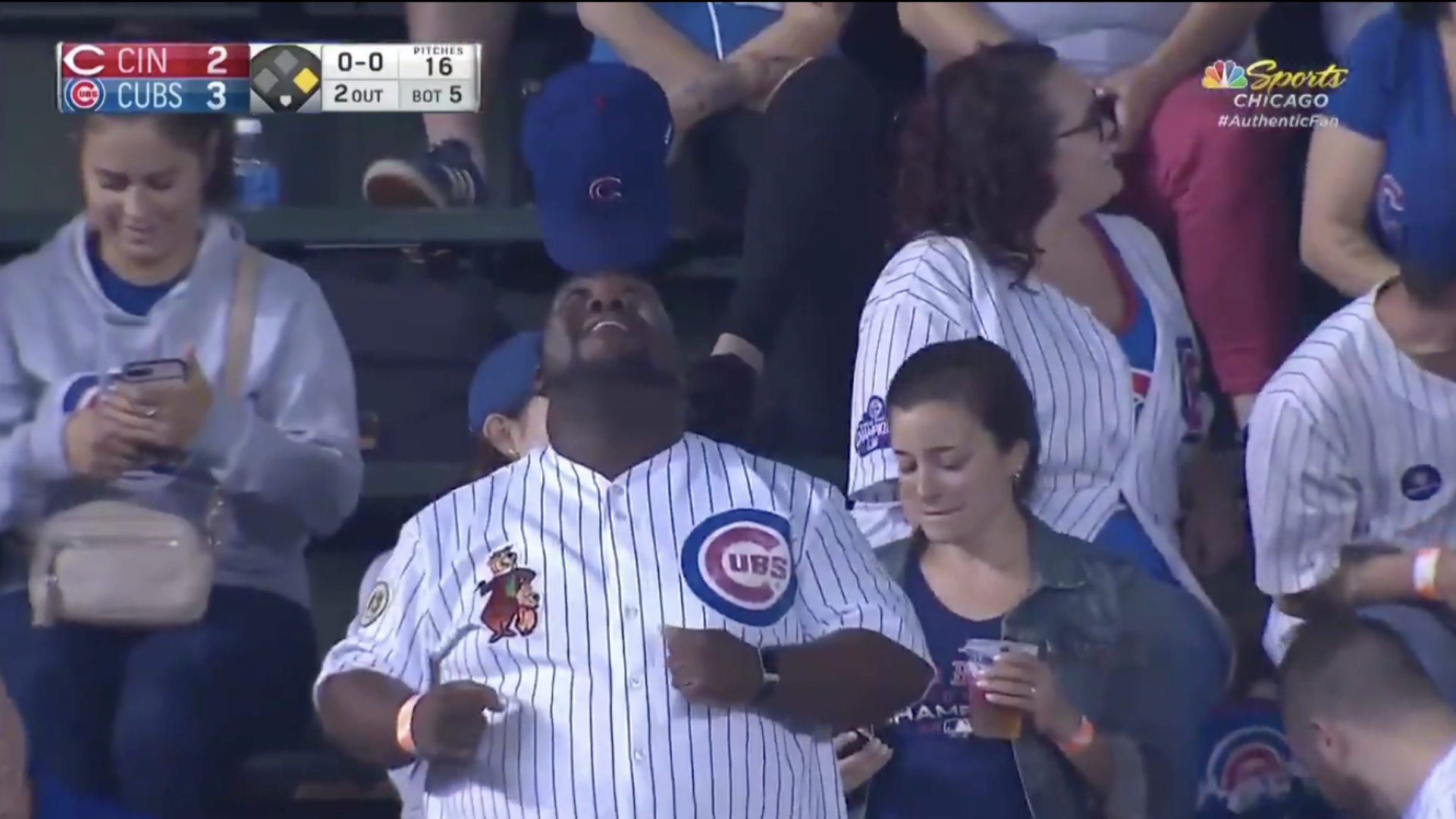 Cubs fan basks in hat act glory, Wrigley Field's reaction offers insight into humanity
