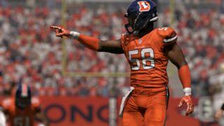 Color Rush Denver Broncos Von Miller Madden NFL 17