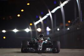 ハミルトン、シンガポールGPポールポジション獲得 2018
