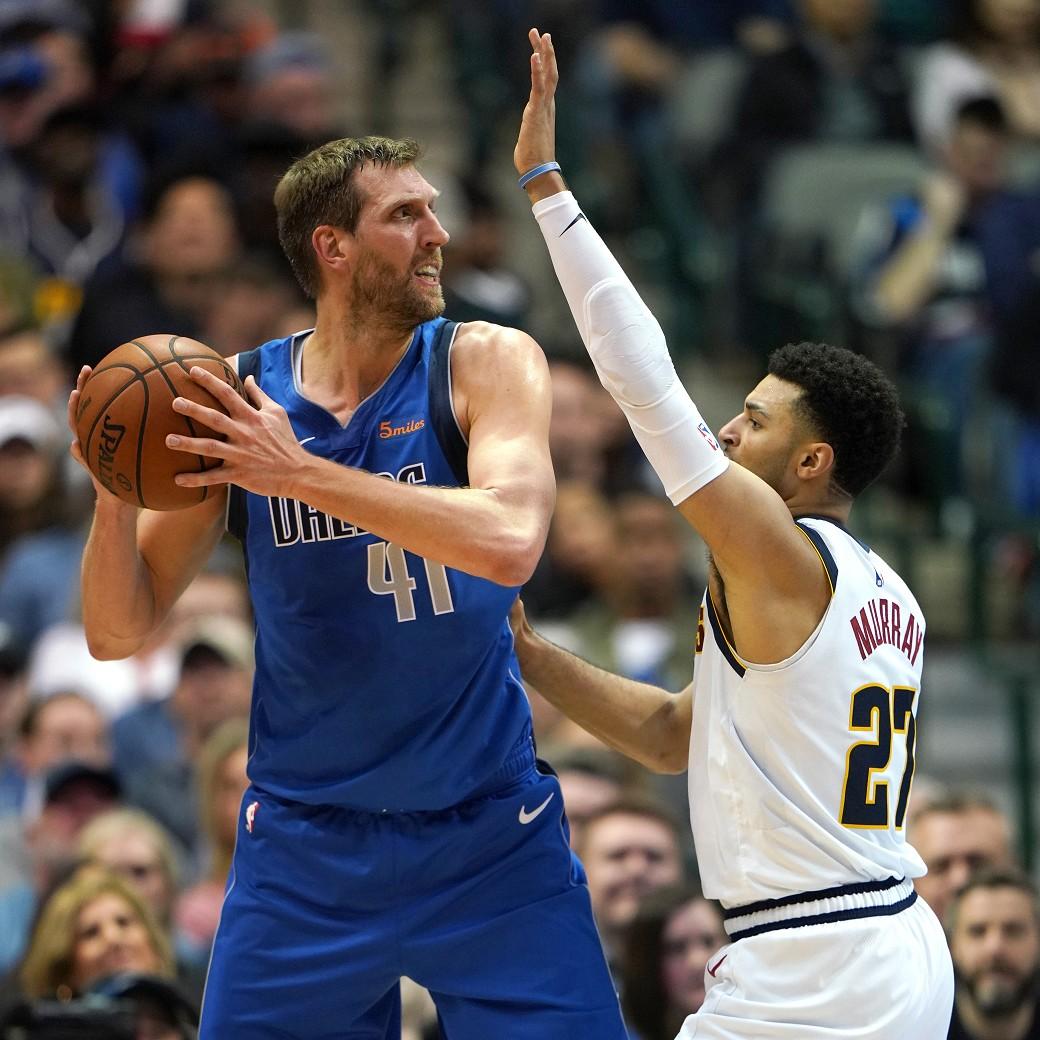 Mavericks vs Nuggets Dirk Nowitzki Jamal Murray