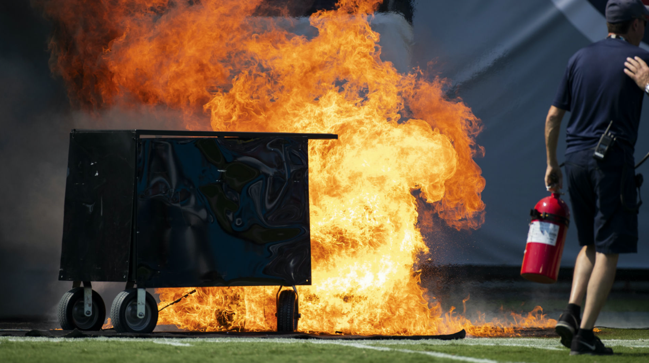 Plenty of jokes after fire delays Colts vs. Titans game at Nissan Stadium