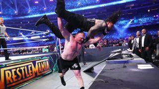 WWE レッスルマニア34 ブロック・レスナー ローマン・レインズ ユニバーサル王座戦