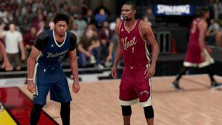 NBA 2K16 Christmas Pelicans Heat