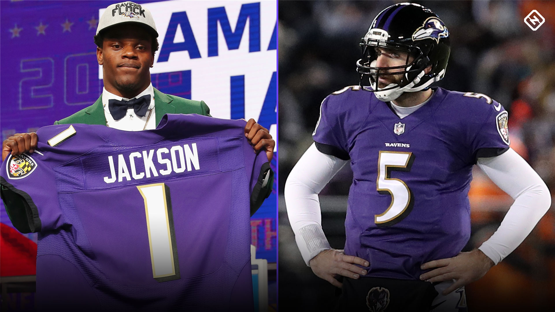 new arrival b7240 5cf27 Lamar Jackson a real threat to unseat Joe Flacco as Ravens ...