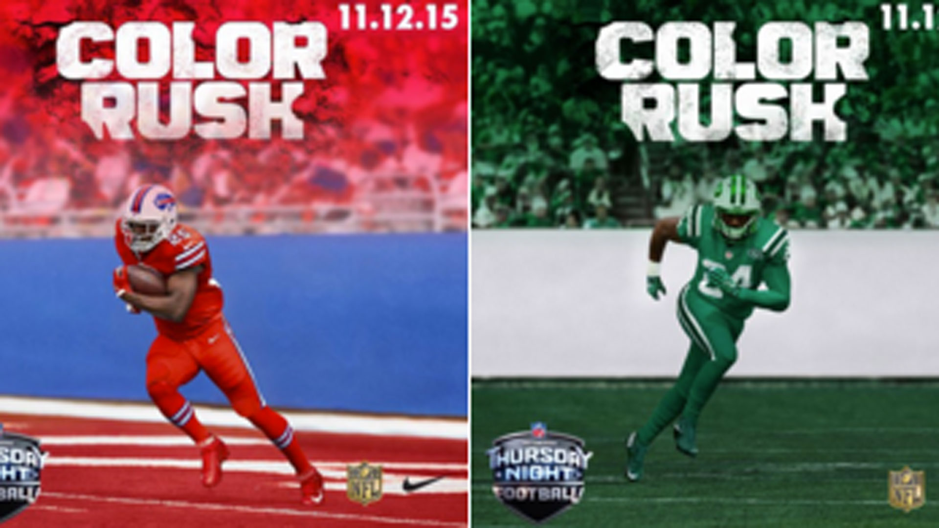 huge discount ee698 22dbc NFL's new 'Color Rush' uniforms for 'Thursday Night Football ...
