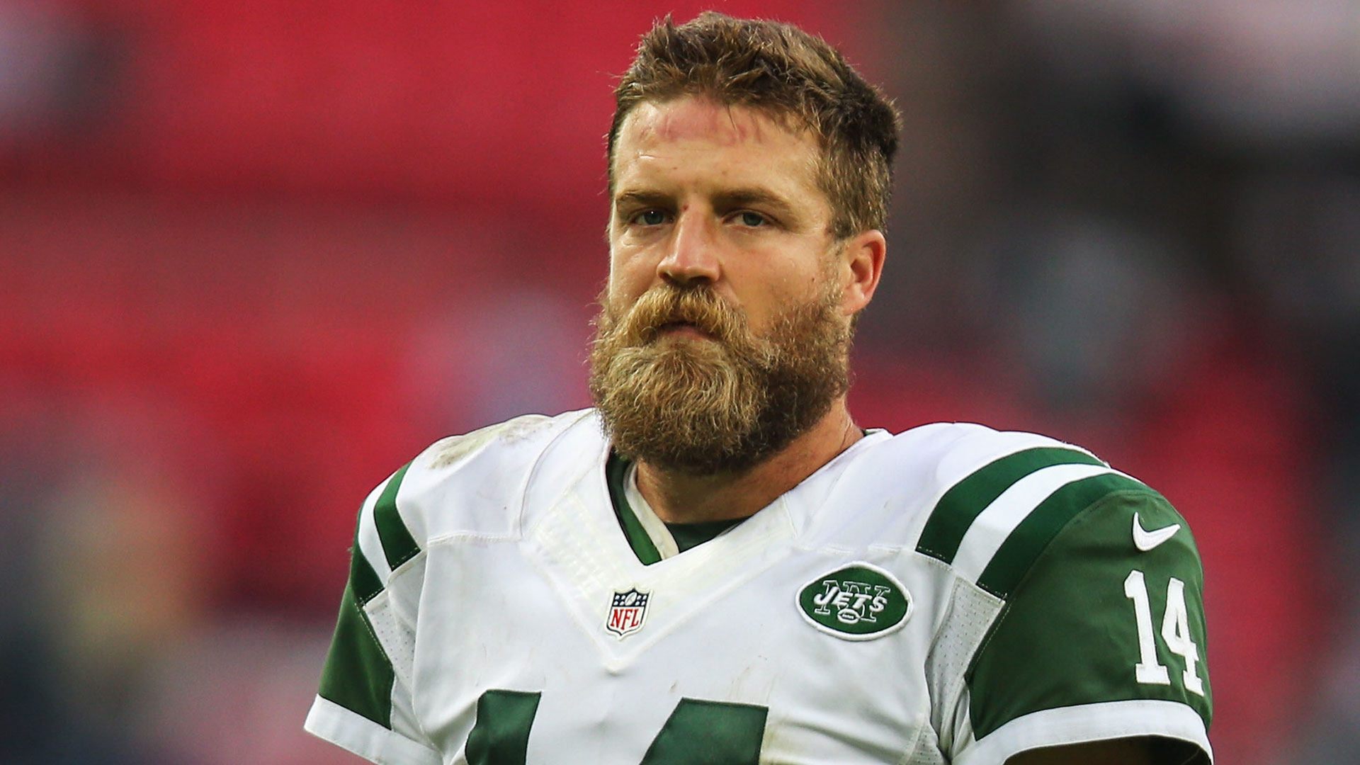 low priced 802fa e2c5c Ryan Fitzpatrick got videobombed by Nick Mangold and it was ...