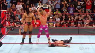 WWE ロウ #1308 IC王座 ロリンズ ジグラー