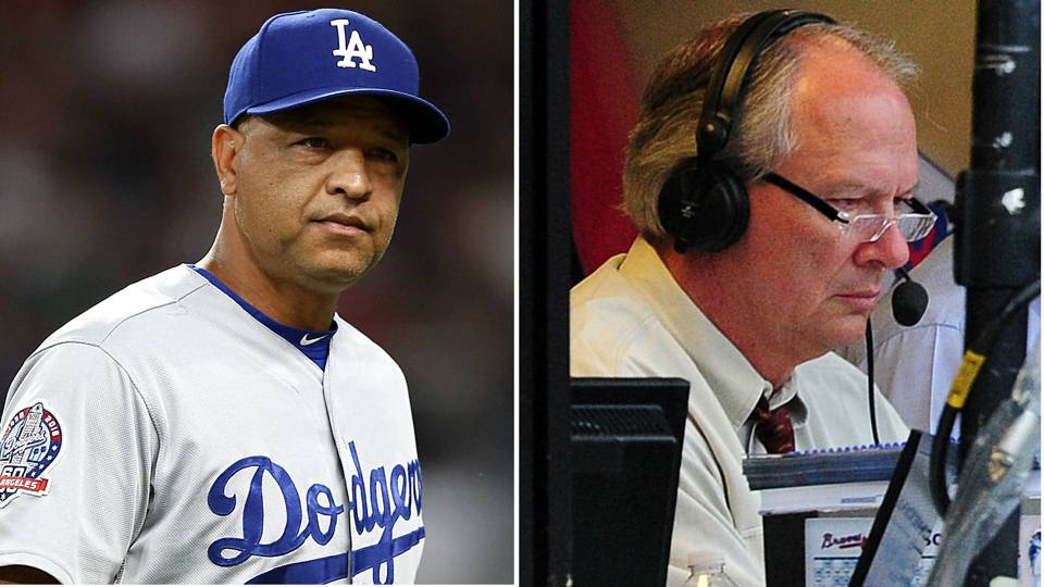 Joe Simpson rends his Dodger blue as he bemoans LA's BP fashion; Dave Roberts is not pleased