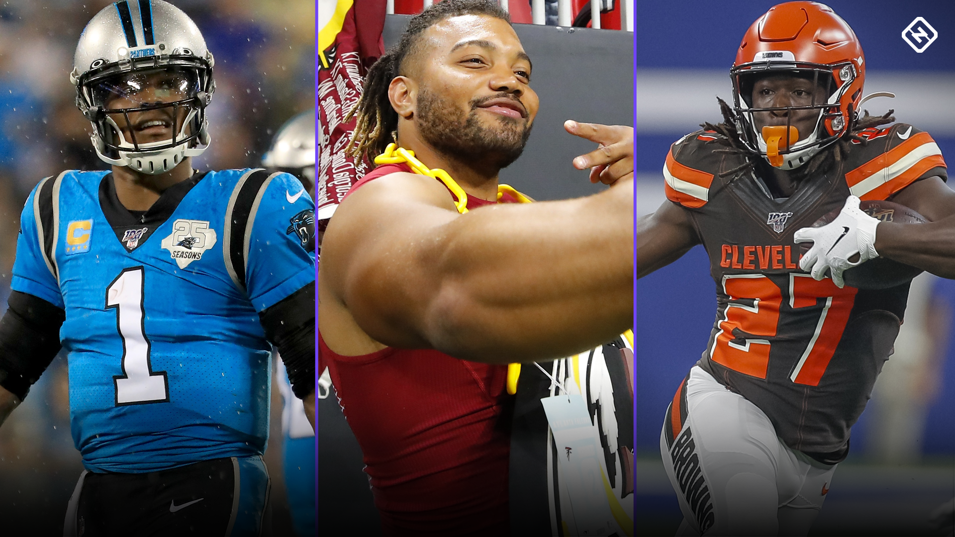 Fantasy Waiver Wire Week 8: Cam Newton, Derrius Guice, Kareem Hunt among free agent pickups worth stashing
