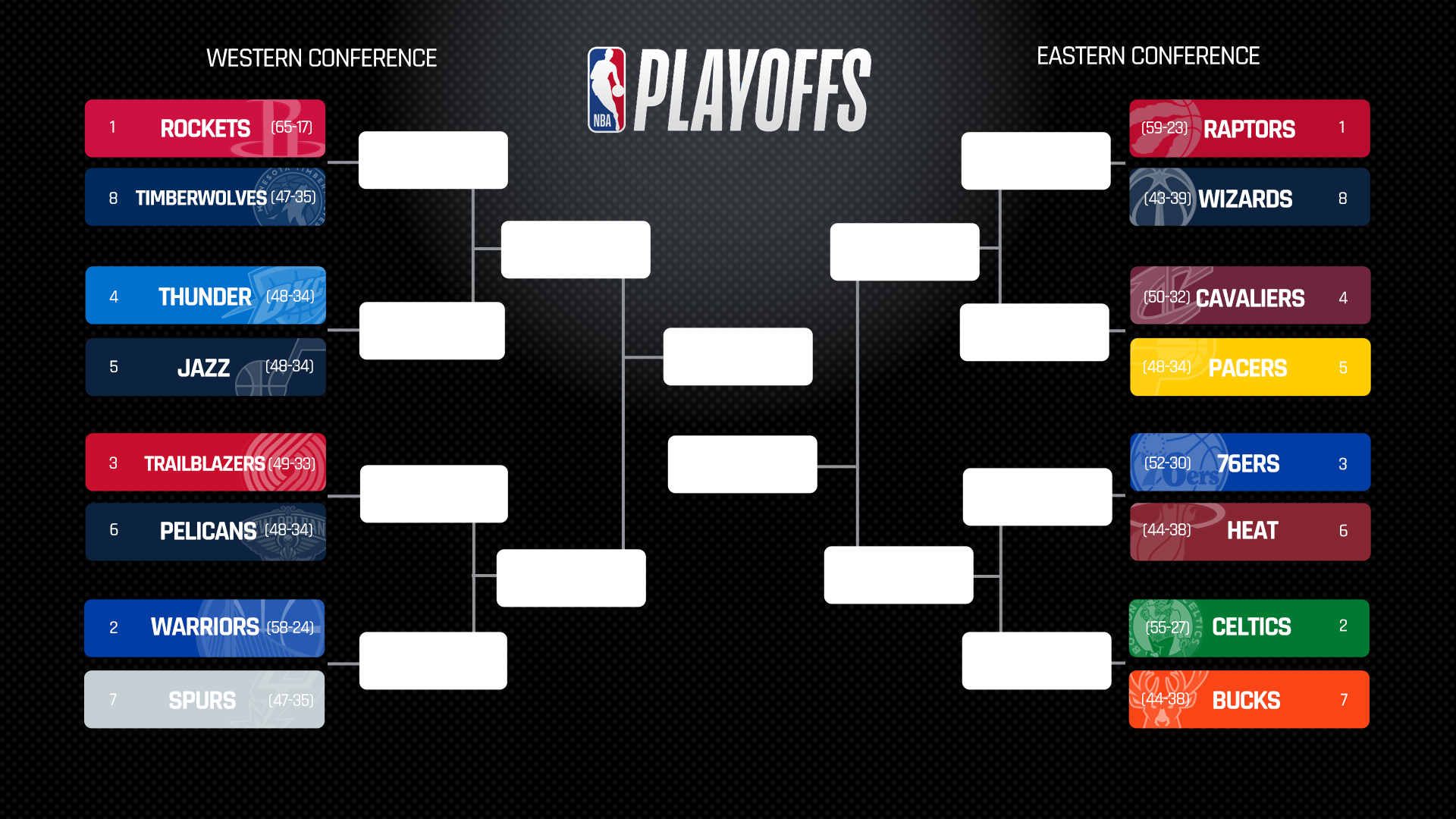 Wild image with nba playoffs printable brackets