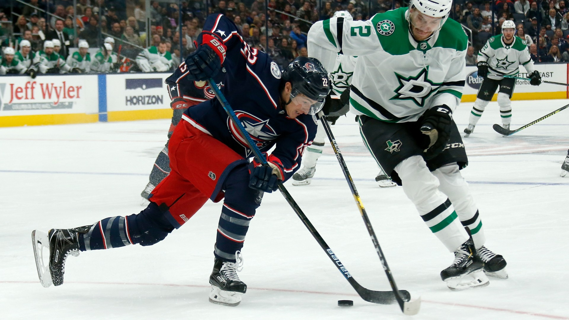 Columbus Blue Jackets' Sonny Milano stuns Dallas Stars with between-the-legs goal