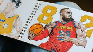NBA Super Fan Dai Tamura Caricature