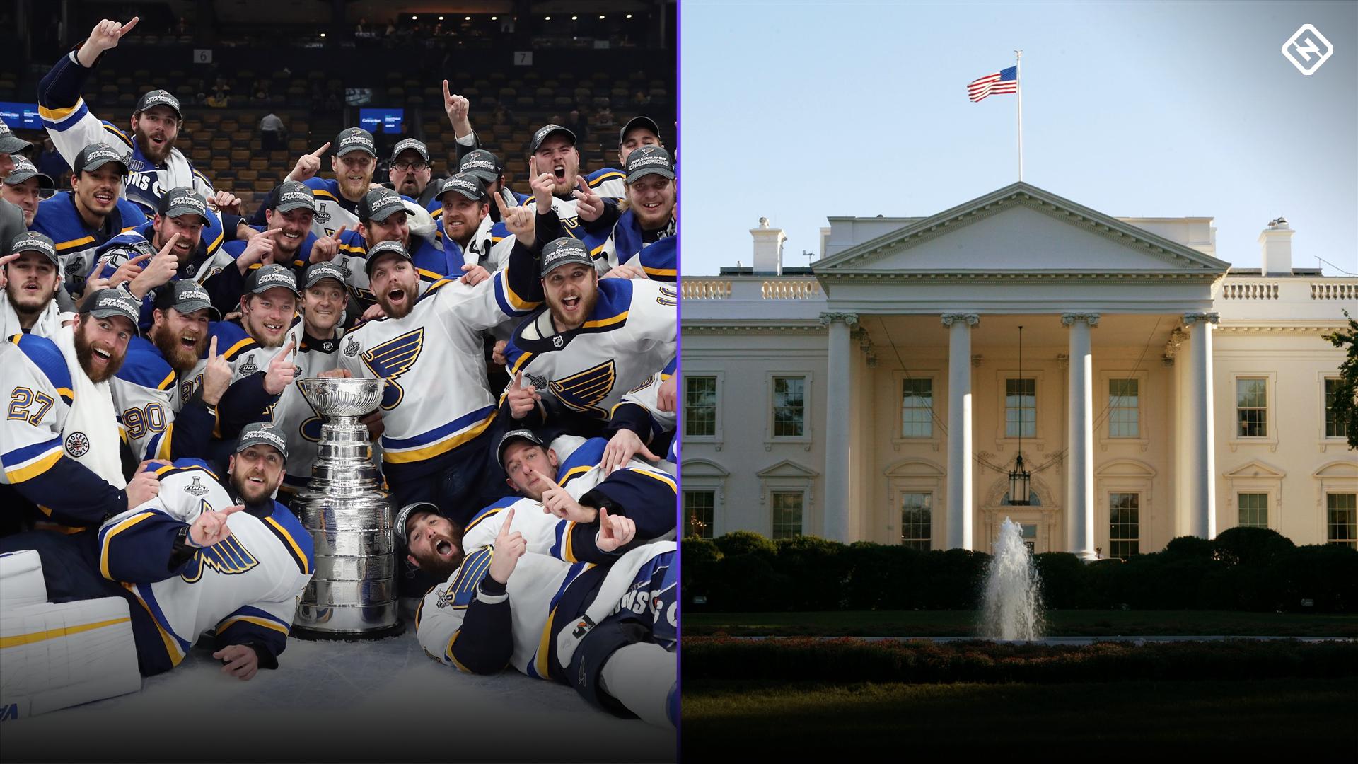 St. Louis Blues visit the White House