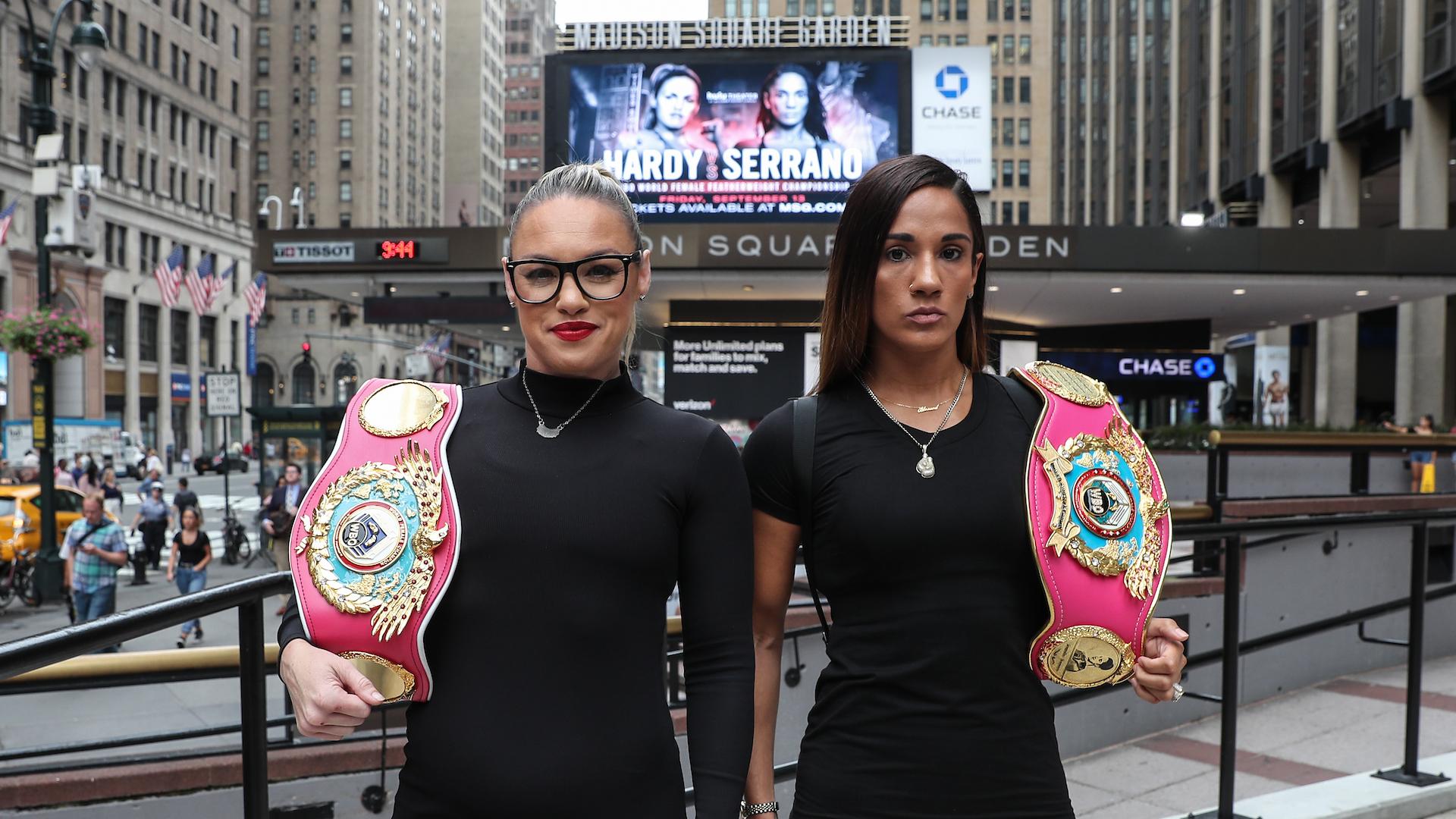 Heather Hardy, Amanda Serrano share thoughts on potential Claressa Shields-Amanda Nunes superfight