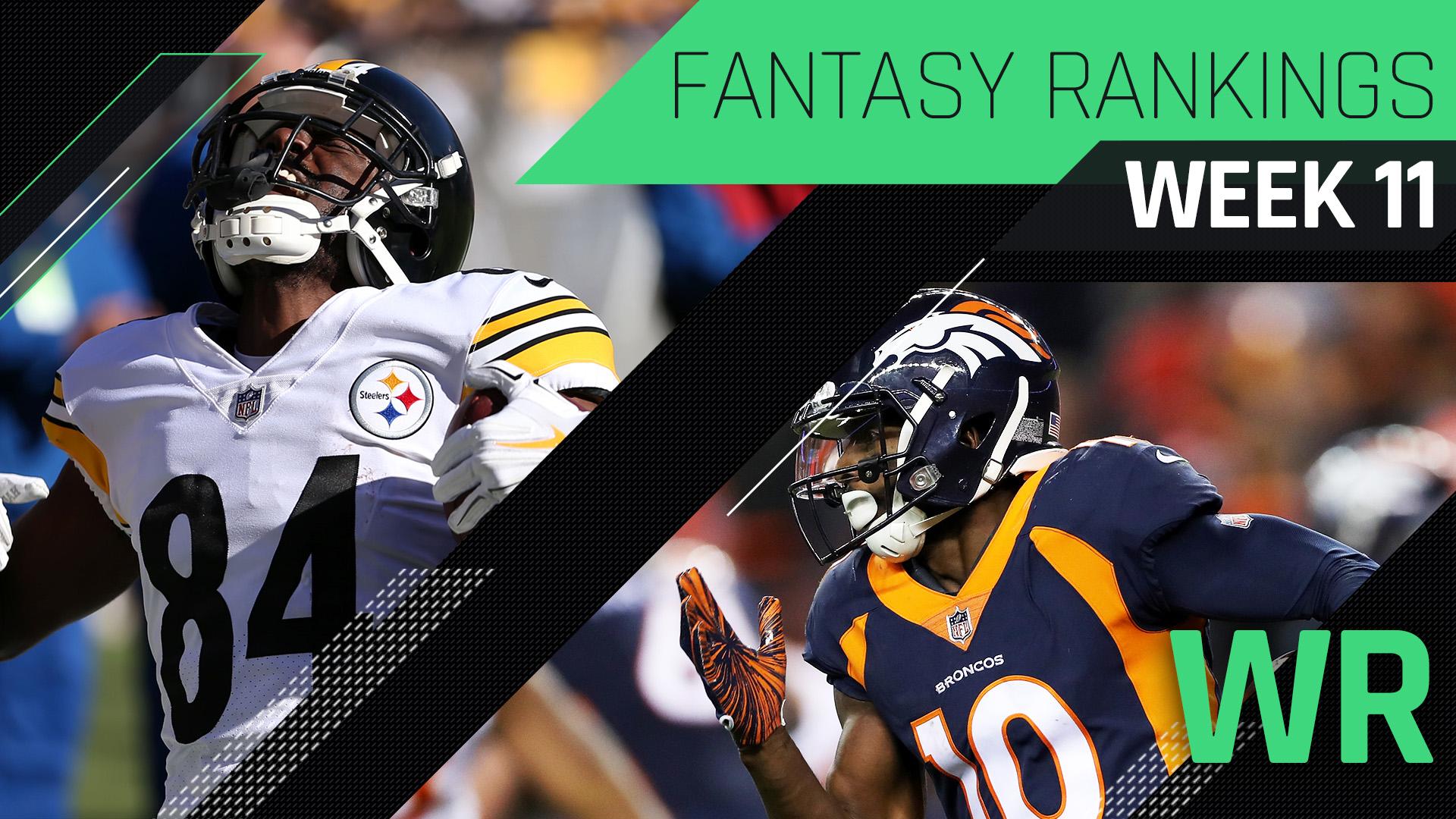 Week 11 Fantasy Rankings: WR