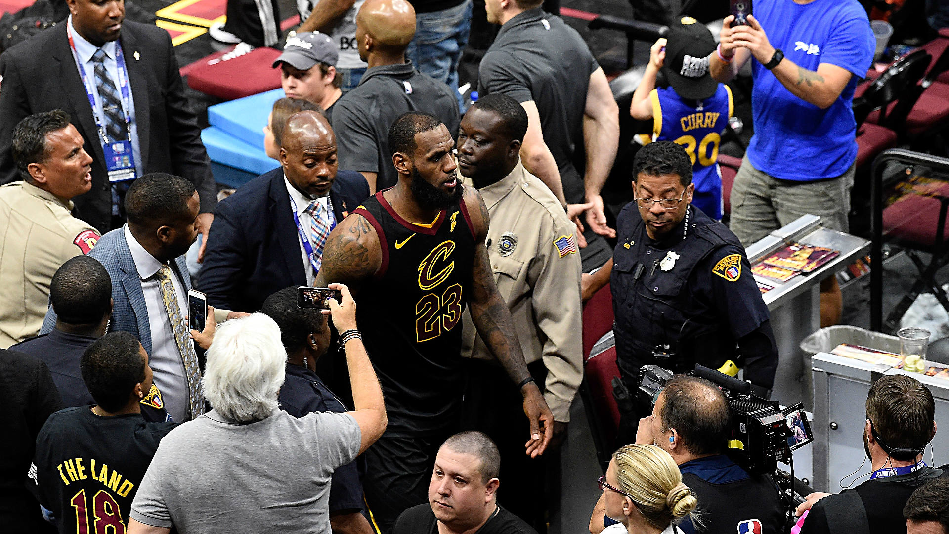 65a692252fbe LeBron James suffered hand injury after punching white board following Game  1 loss