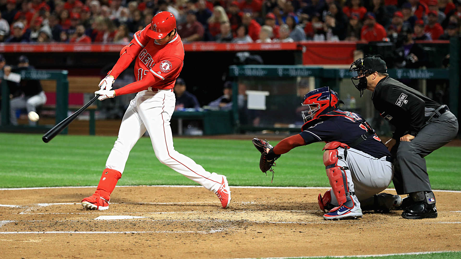 Ohtani homers in 1st home AB, Angels top Indians