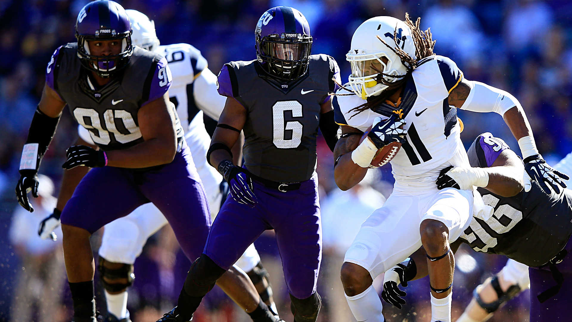 Expects lots of points, yards between TCU, West Virginia