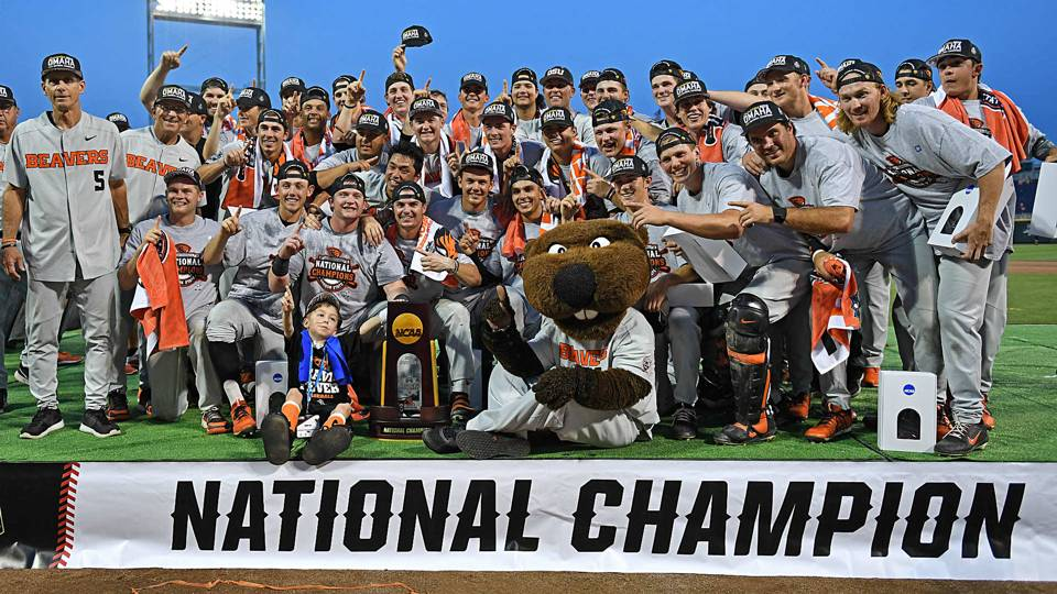 College World Series 2018 results: Oregon State, Kevin Abel shut out Arkansas in deciding Game 3