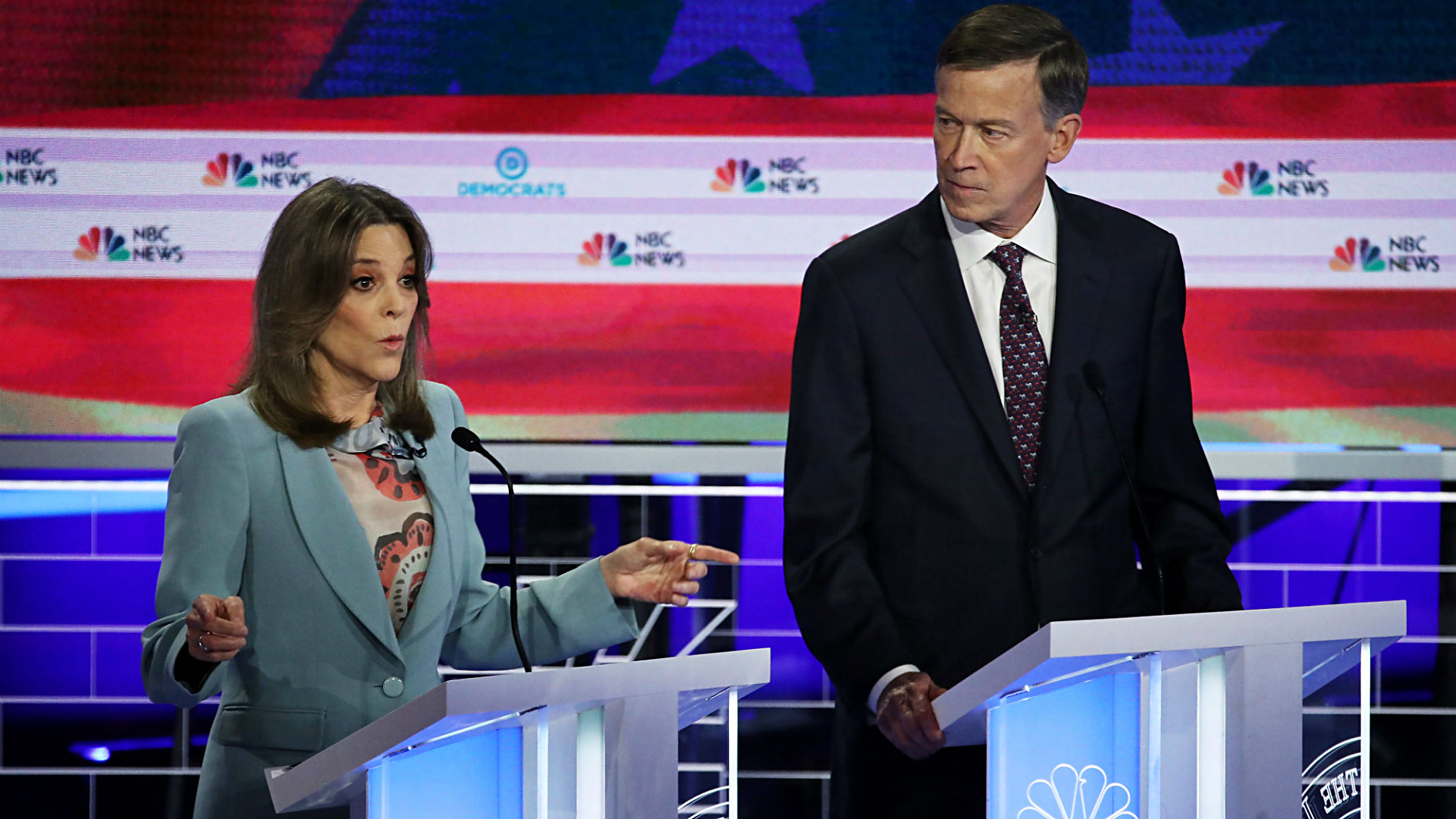 Marianne Williamson's debate performance has Twitter . . . making Dusty Rhodes references?