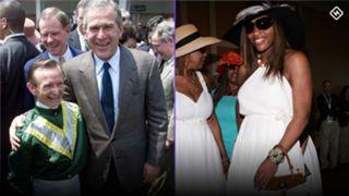 Pat Day, George W. Bush | Serena Williams
