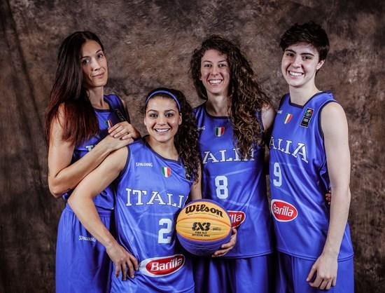 Italian women 3x3 fiba basketball
