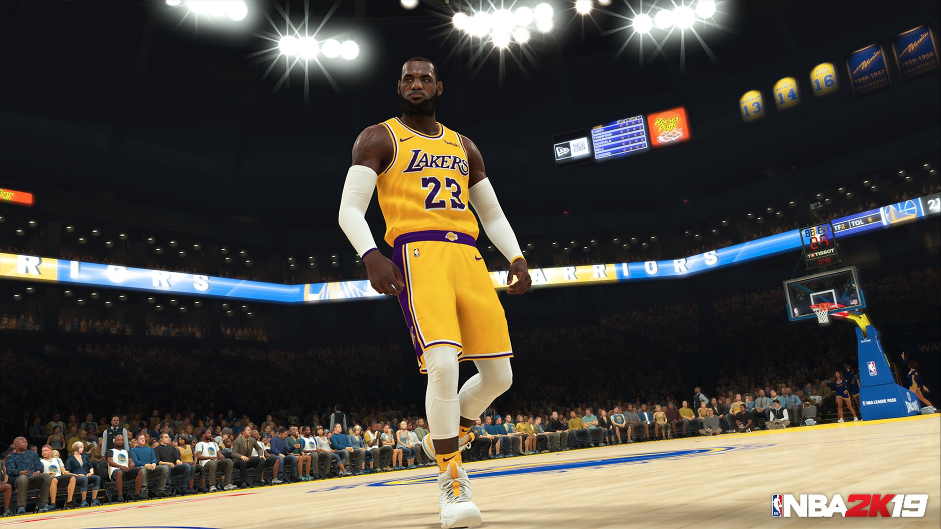 988afa7bf12 'NBA 2K19' official trailer offers first look at LeBron James playing for  Lakers | Sporting News
