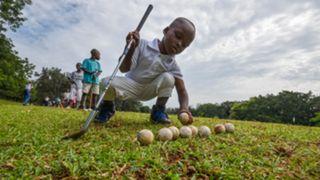 Ivory Coast golf clinic for kids